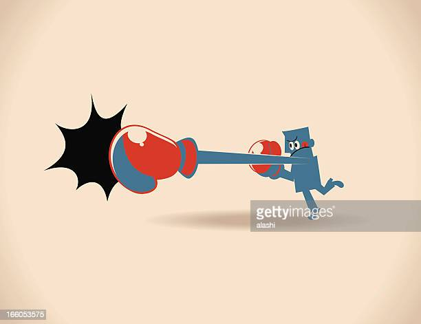 punching - knockout stock illustrations, clip art, cartoons, & icons