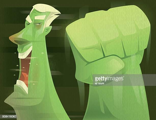 punching - knockout stock illustrations