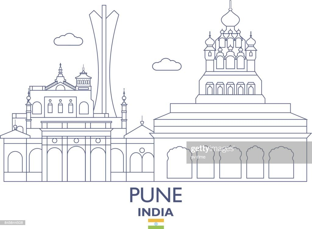 Pune City Skyline, India