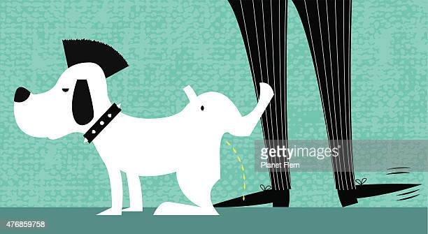 punk dog - rudeness stock illustrations