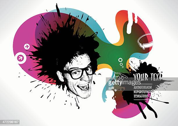 punk rock background - punk person stock illustrations