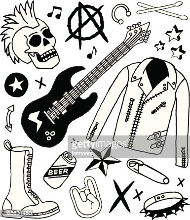 Punk Rock Doodles High Res Vector Graphic Getty Images