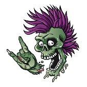 Punk skull.
