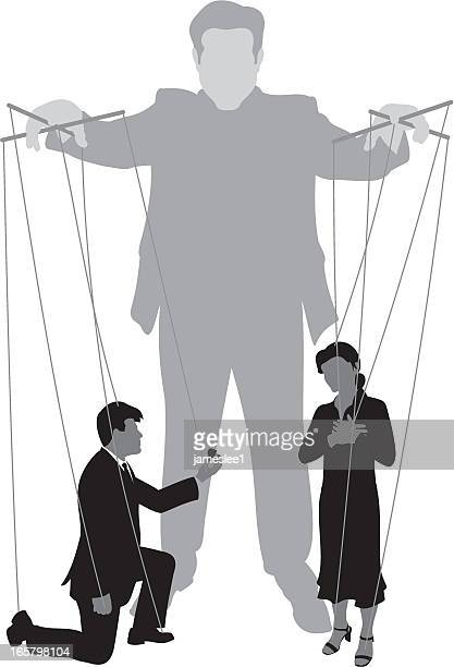 Marionette Puppet Silhouette Stock Illustrations And