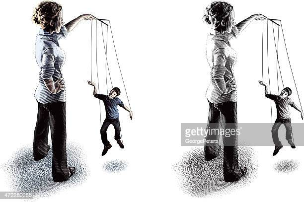 Puppet On A String Being Manipulated