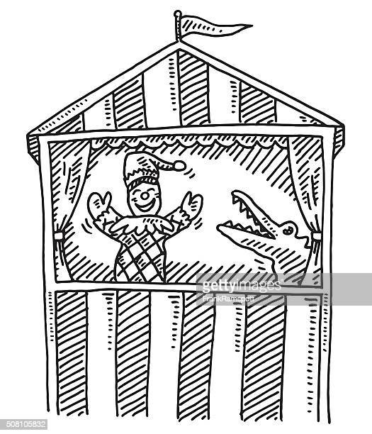 Puppet Theater For Kids Drawing
