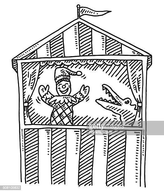 Illustrations et dessins anim s de th tre de guignol - Dessin de theatre ...