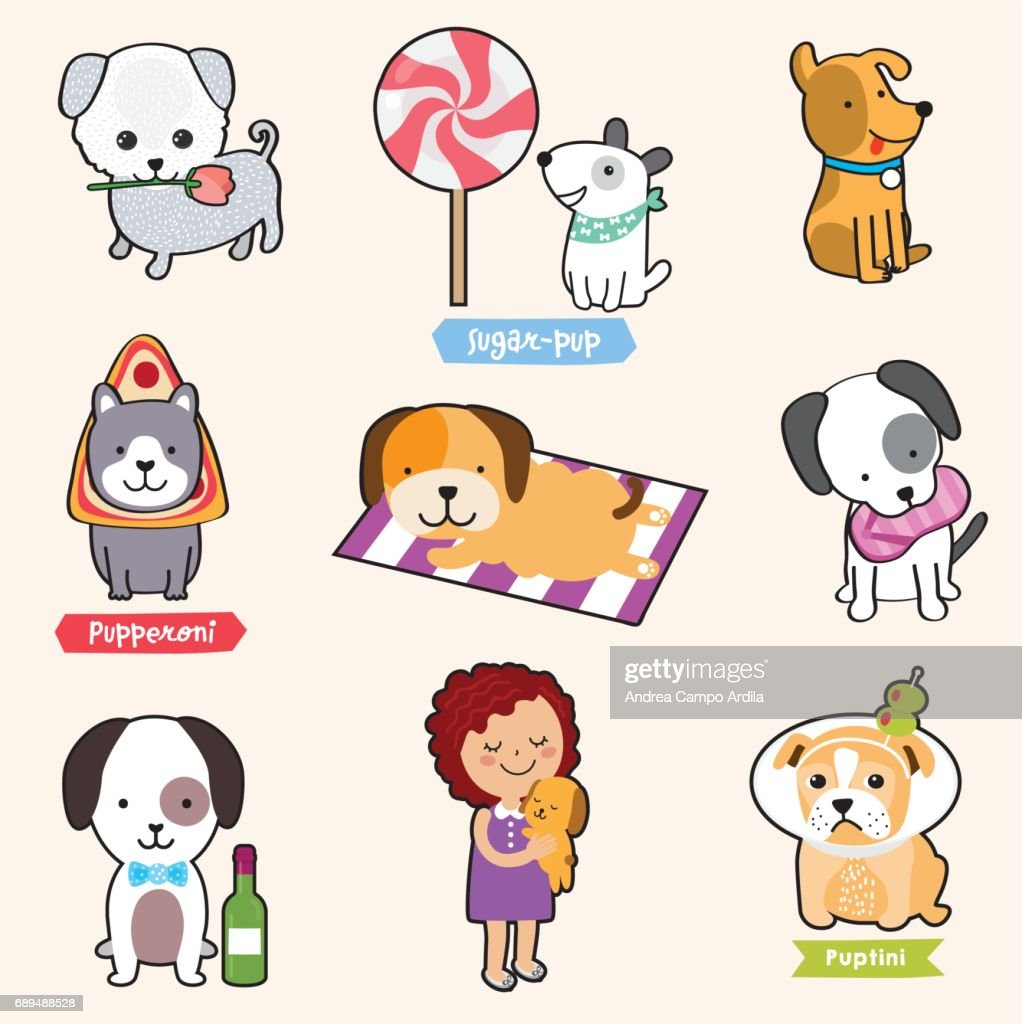 Puppies! - cute illustrations of dogs
