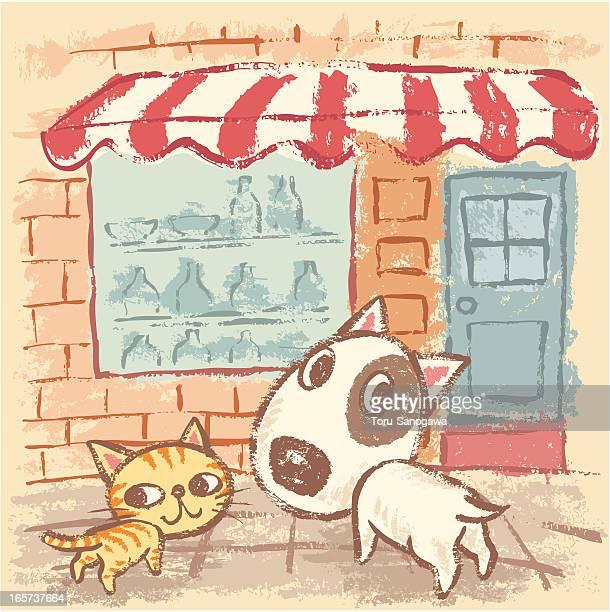 Cachorro y Mascota en la calle