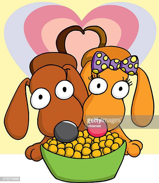 puppy love 4 - dog bowl stock illustrations, clip art, cartoons, & icons