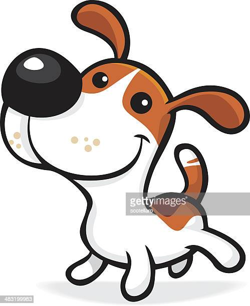 illustrations, cliparts, dessins animés et icônes de chiot - jack russell terrier