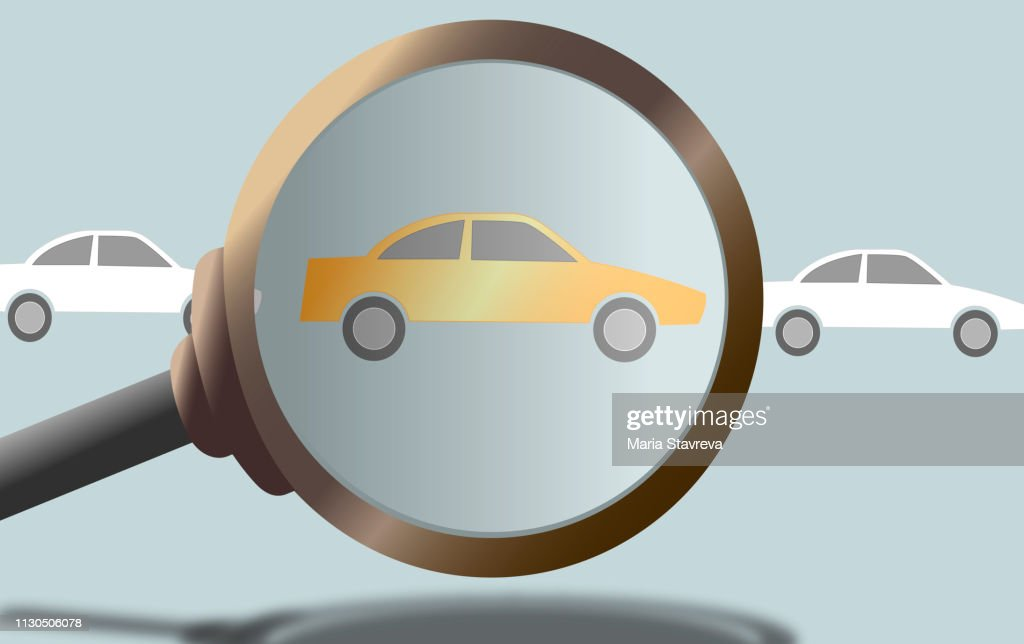 Purchase of cars, rent, taxi.Vector : Stock Illustration