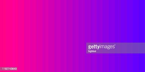 purple abstract gradient background decomposed into vertical color lines - pink and blue background stock illustrations