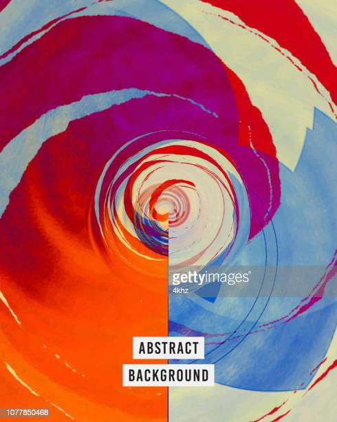 purple and red whirling vortex surreal background - psychedelic stock illustrations