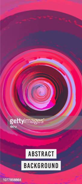 purple and red whirling vortex surreal background - vortex stock illustrations, clip art, cartoons, & icons