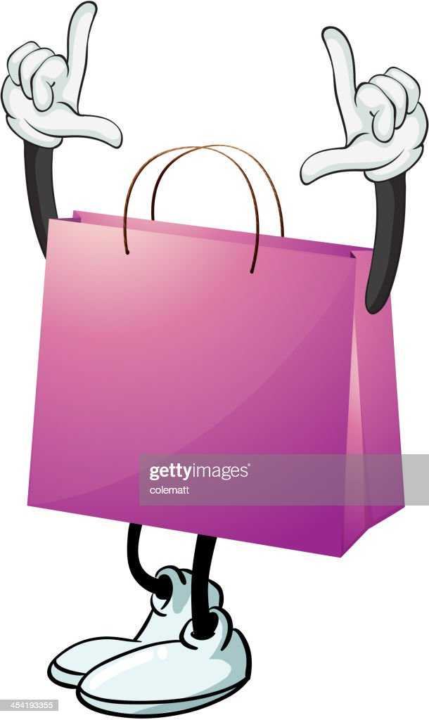 Purple bag : Vector Art