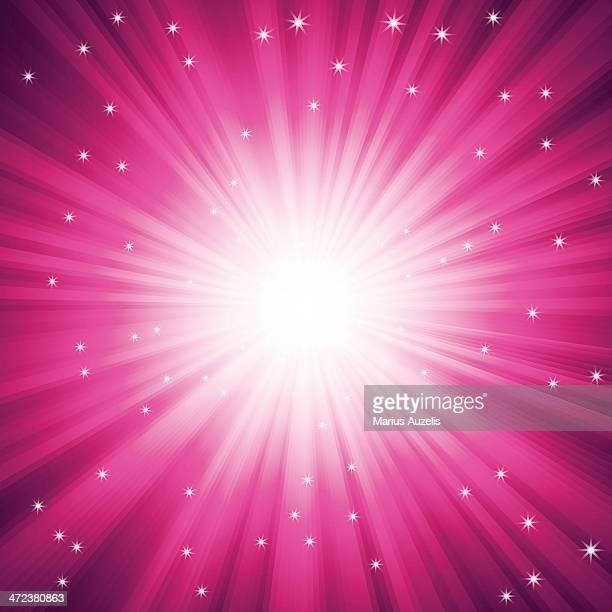 Roxo explosão de luz com brilhem