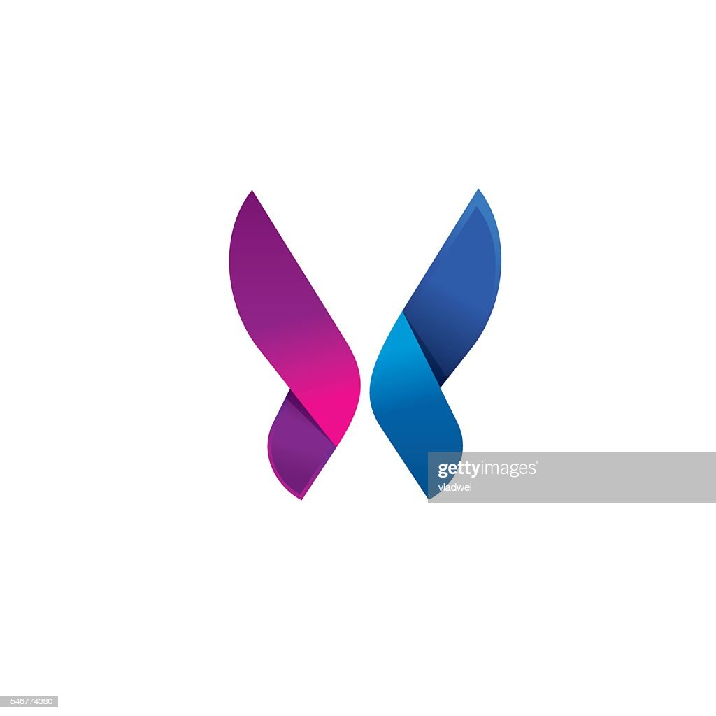 Purple butterfly logo modern beauty vector abstract brand