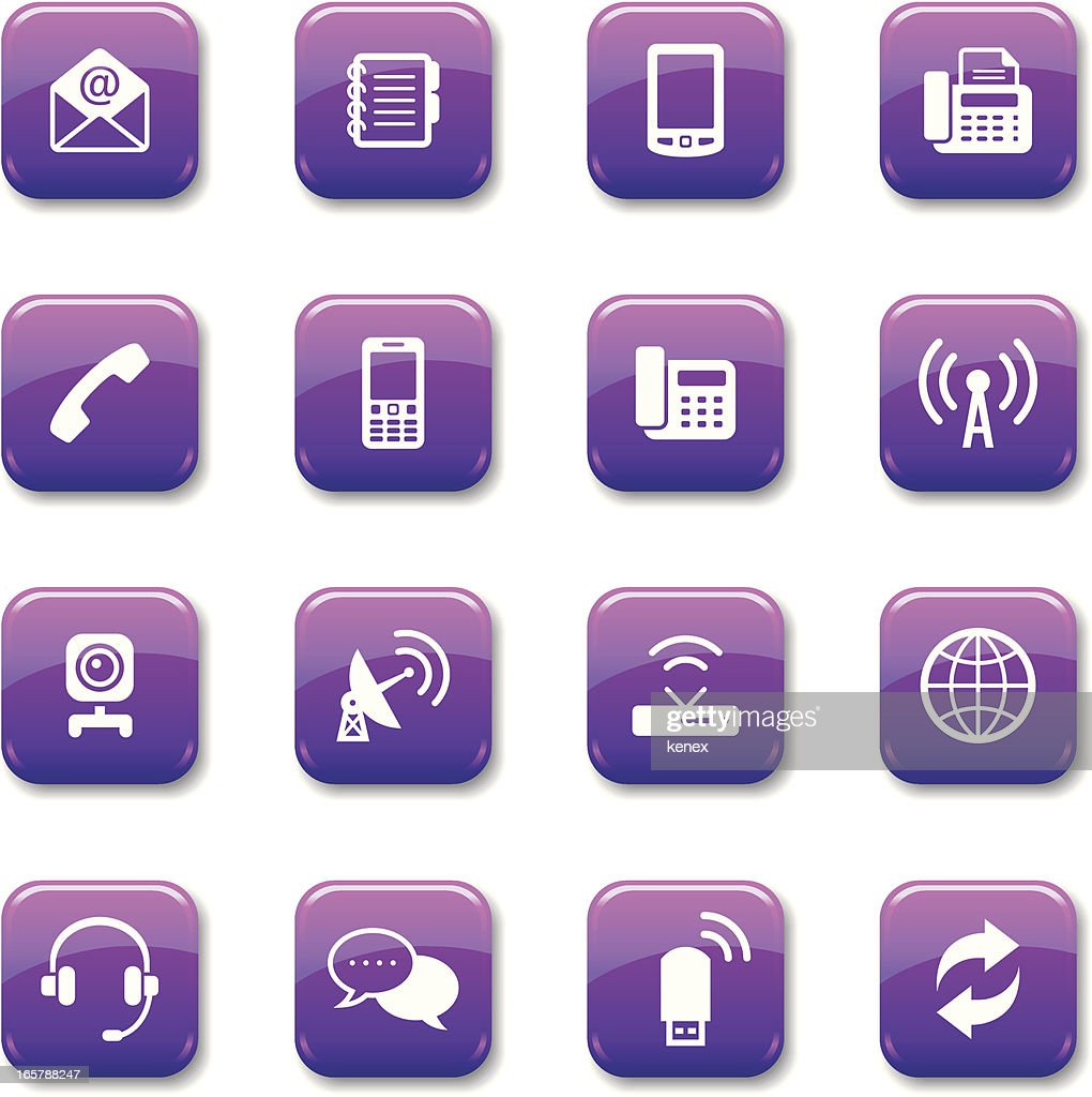 Purple Button   Communication