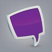 Purple cloud speech