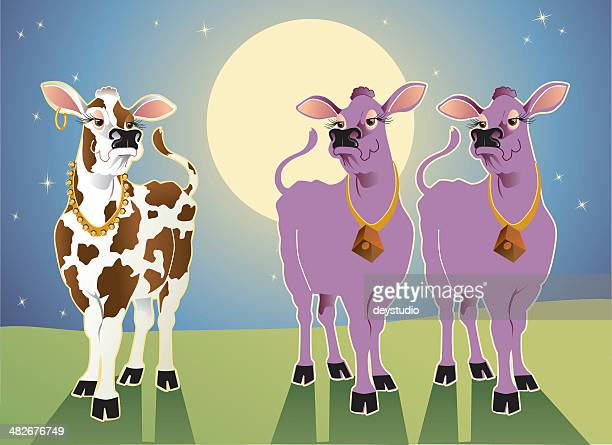 purple cows - bling bling stock illustrations, clip art, cartoons, & icons