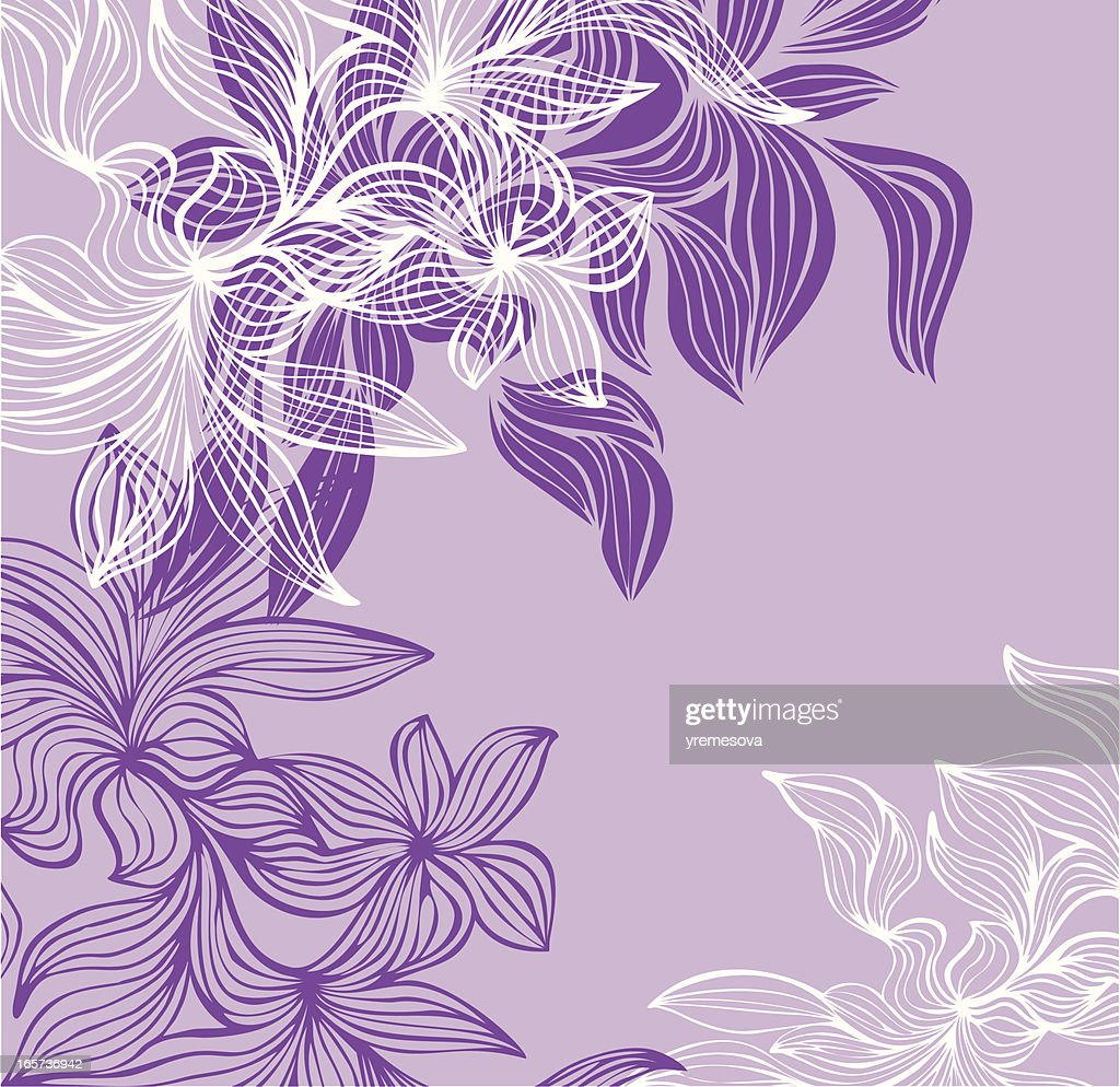 Purple Floral Background High Res Vector Graphic Getty Images