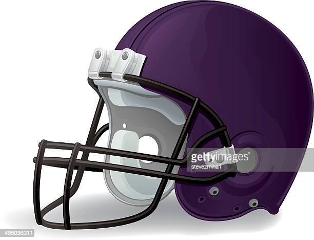 purple football helmet - football helmet stock illustrations
