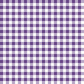 Purple Gingham Cloth Fabric Pattern