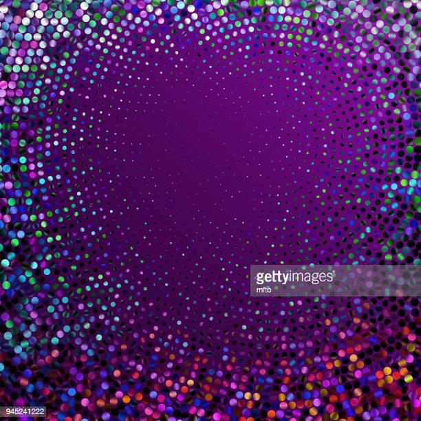 Purple halftone glitter dots background