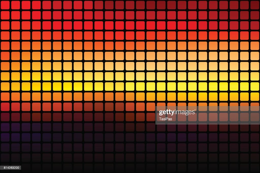 Purple Orange Yellow Red Brown Abstract Rounded Mosaic