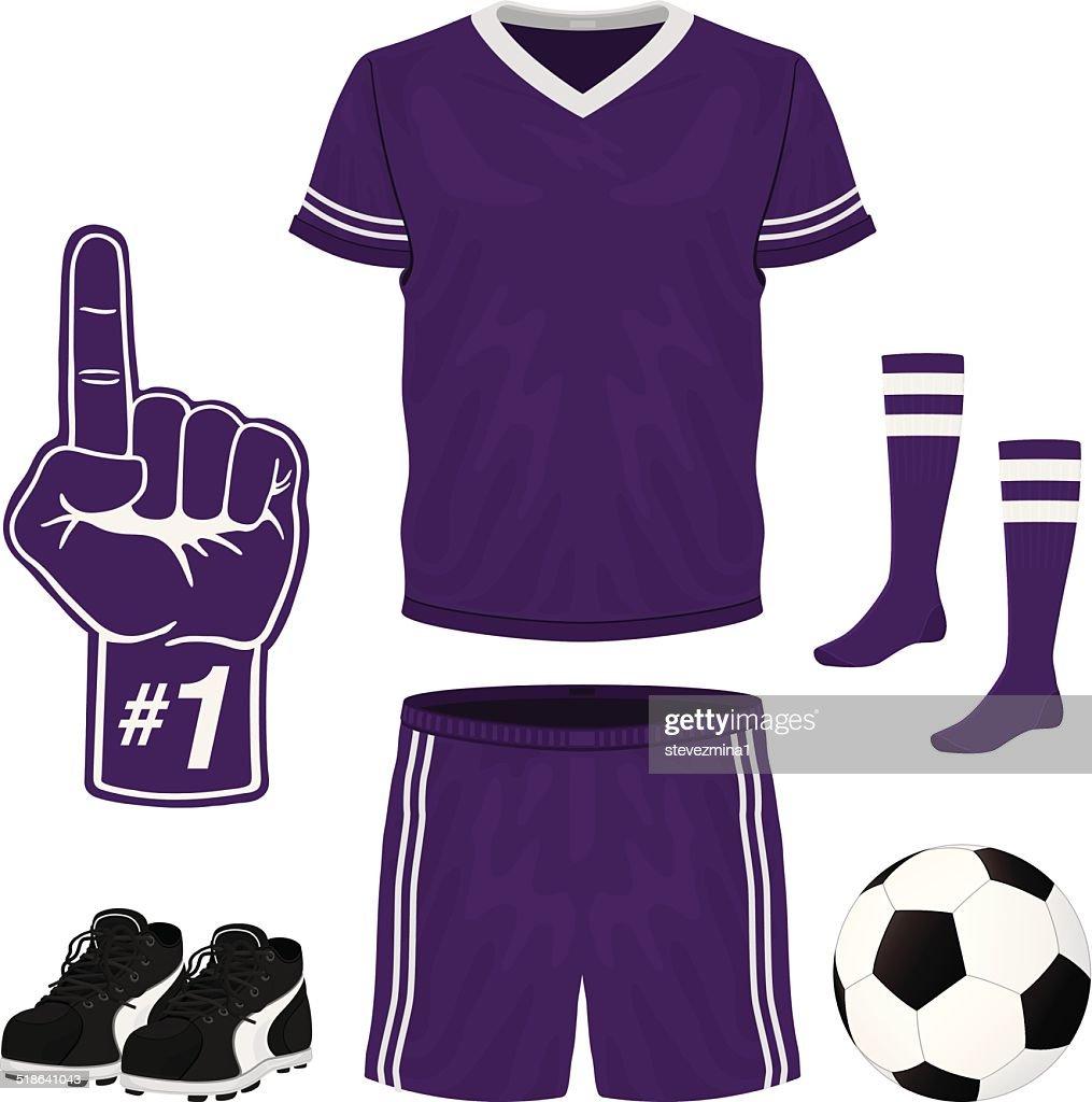 Purple Soccer Uniform