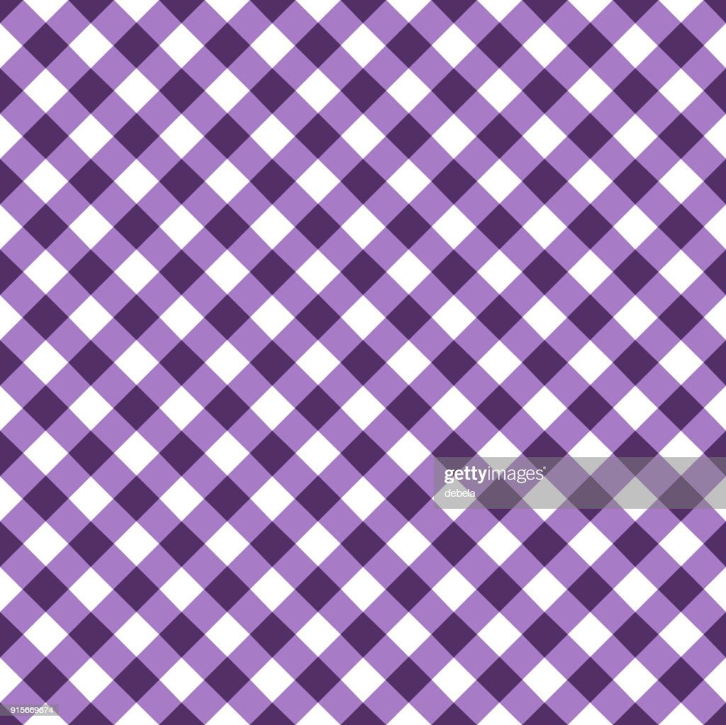 Purple Tablecloth Pattern : Vector Art