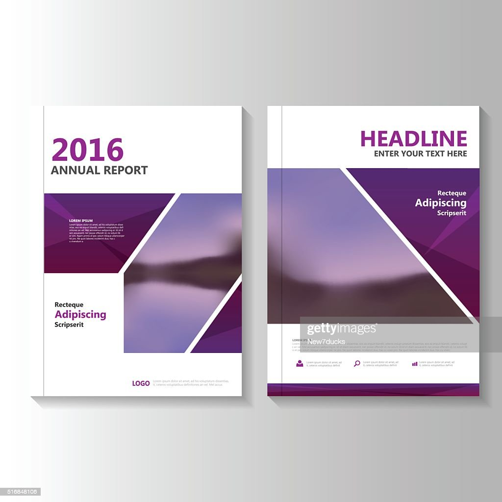 Purple Vector annual report Leaflet Brochure Flyer template design