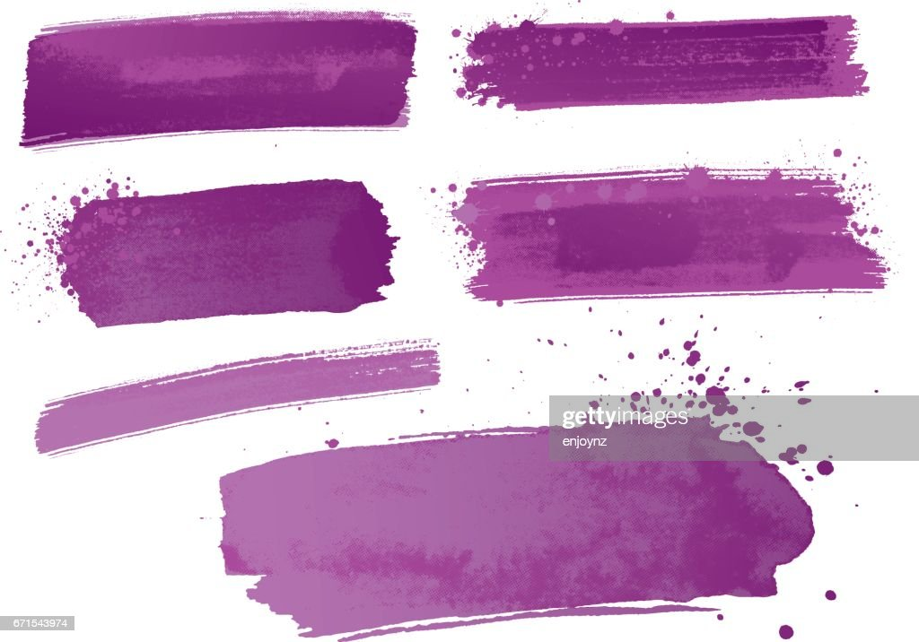Purple watercolor paint strokes