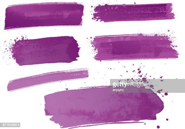 purple watercolor paint strokes - purple stock illustrations