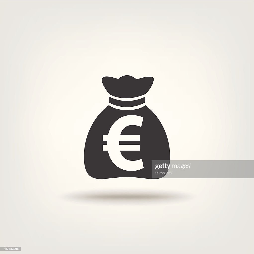 Purse money euro sign