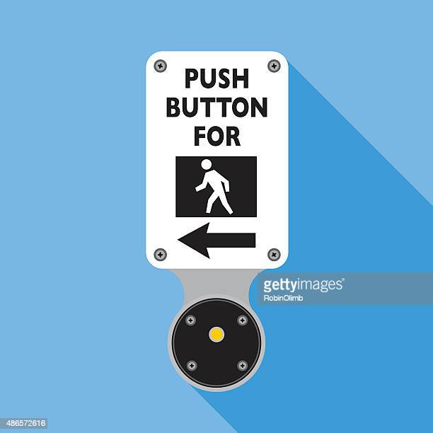 push button for walking - red square stock illustrations, clip art, cartoons, & icons