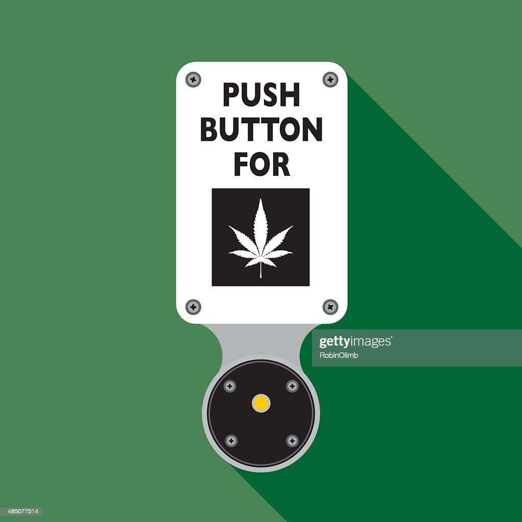 Inserción de marihuana : Ilustración de stock