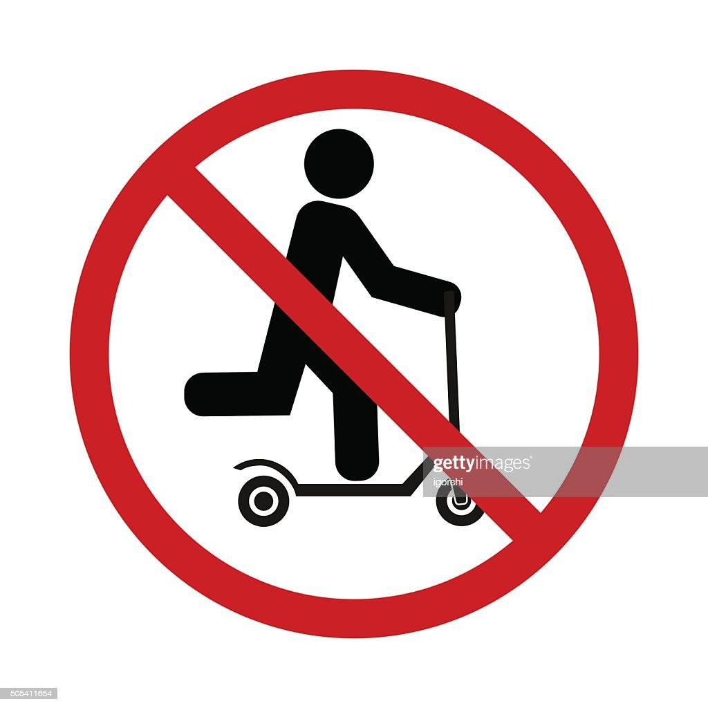 push scooter stop icon