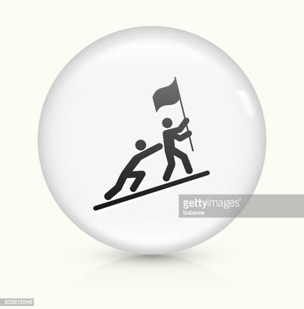 Du zum Erfolg Symbol auf weißer Runder Vektor Knopf