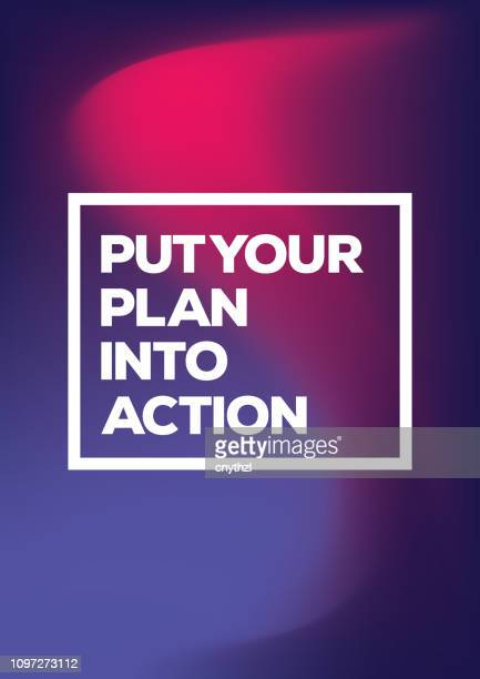 Put Your Plan into Action. Inspiring Creative Motivation Quote Poster Template. Vector Typography - Illustration