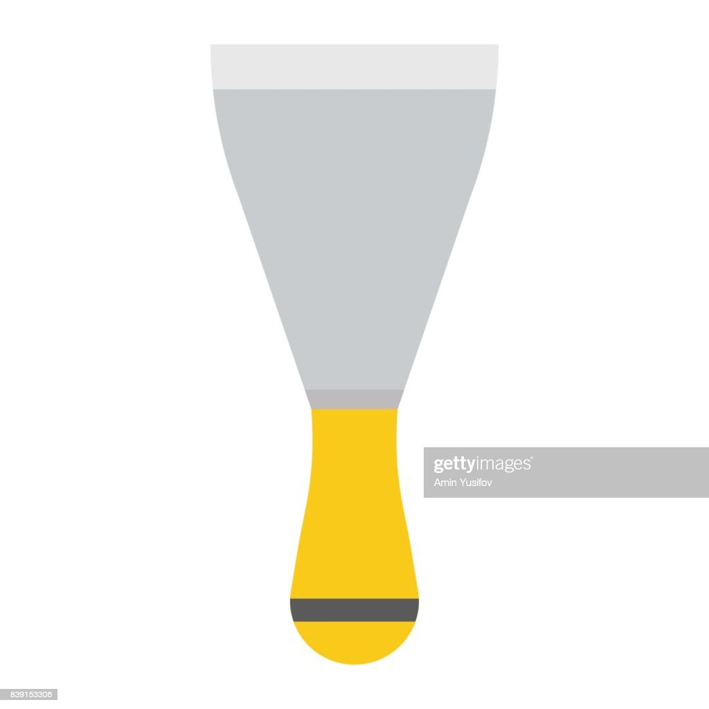 Putty knife flat icon, build and repair, spatula sign vector graphics, a colorful solid pattern on a white background, eps 10.