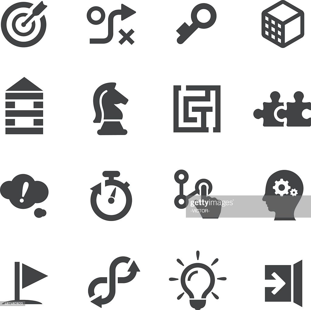 Puzzle and Solution Icons - Acme Series