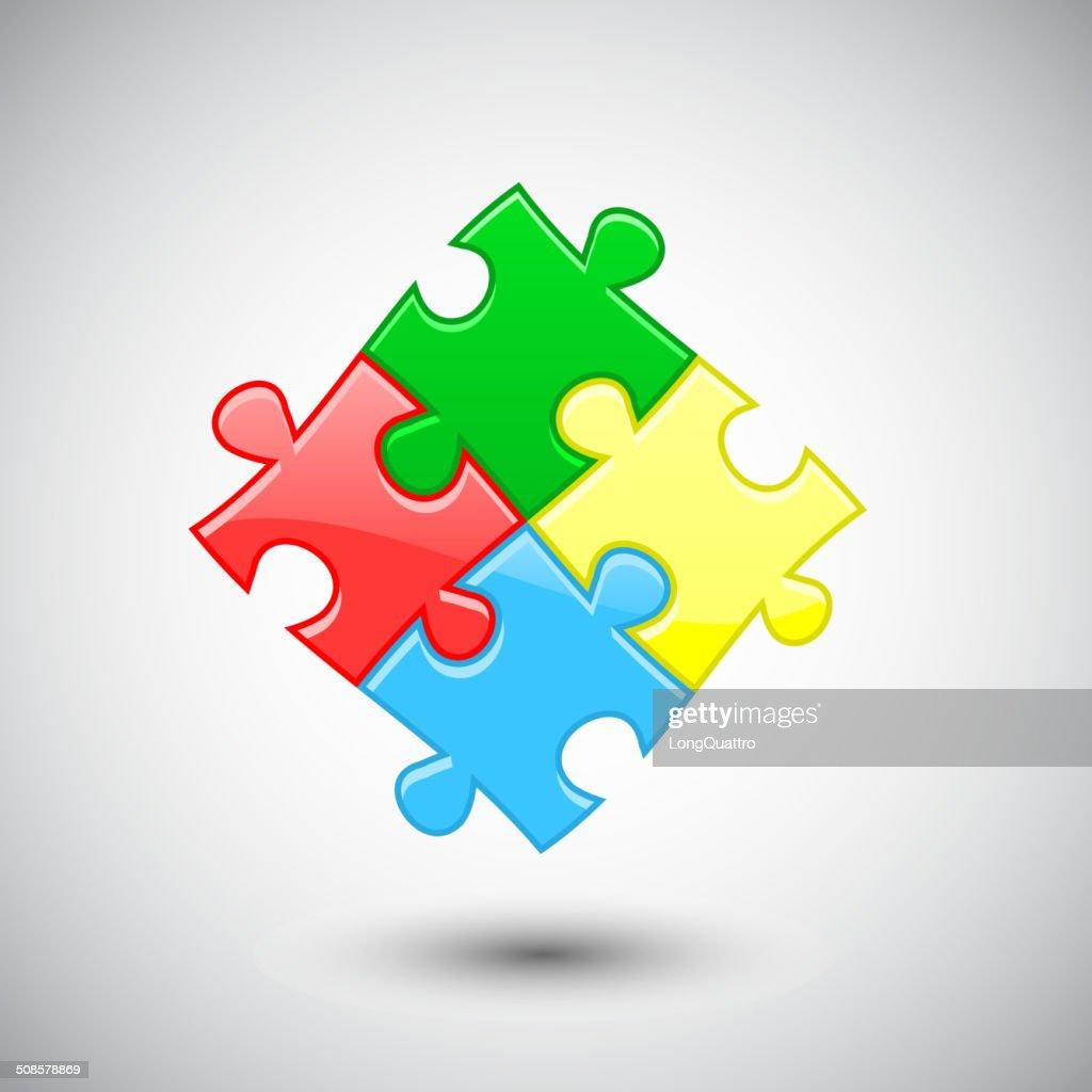 Puzzle Hintergrund : Vektorgrafik