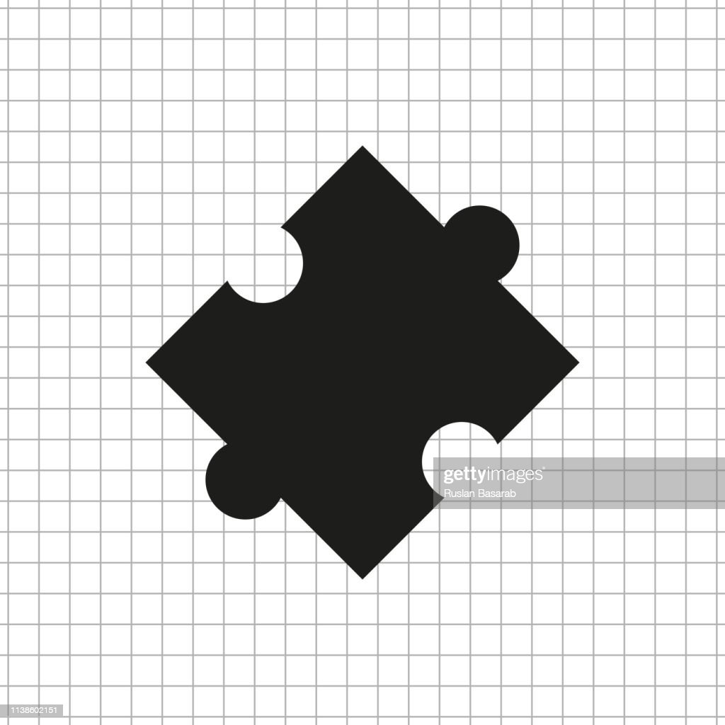 puzzle   black vector icon
