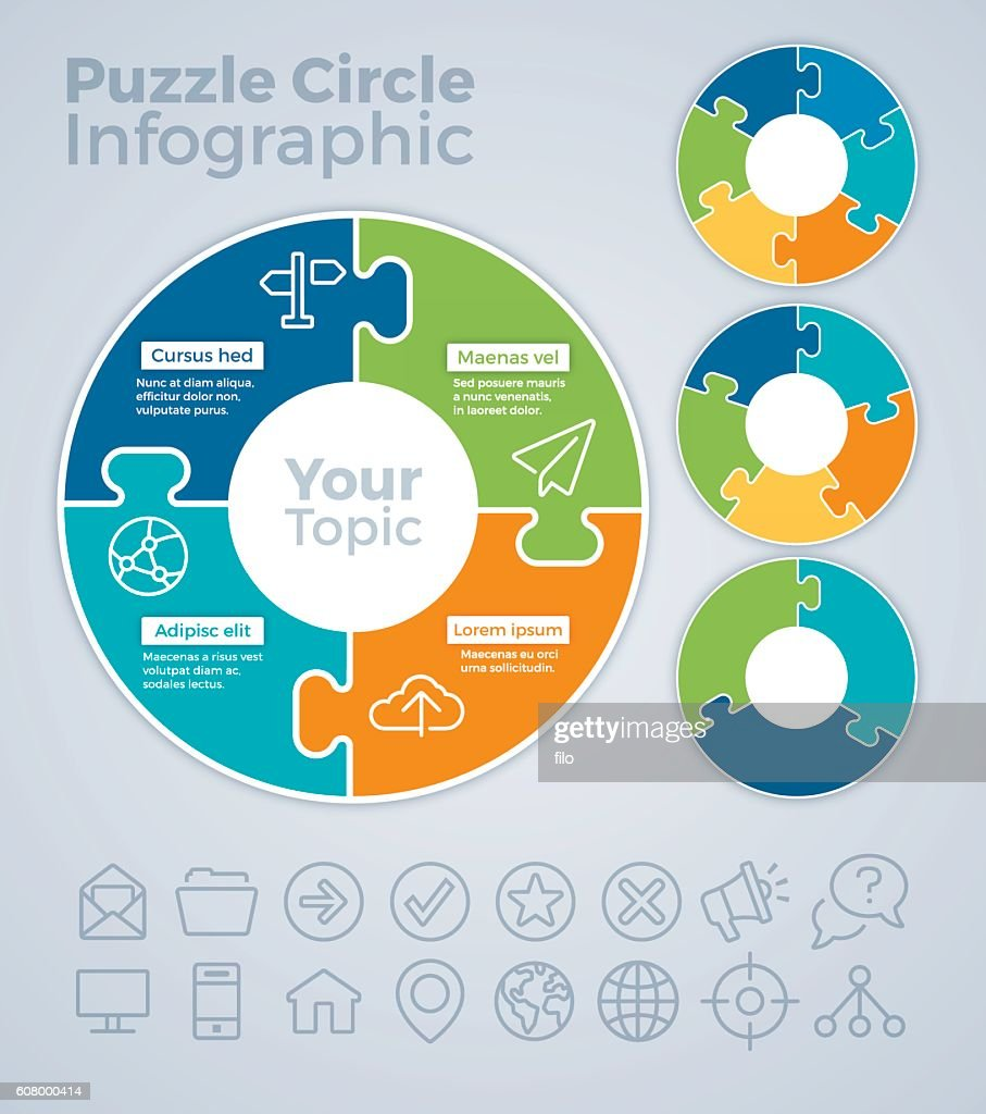 Puzzle Circle Infographic Concept