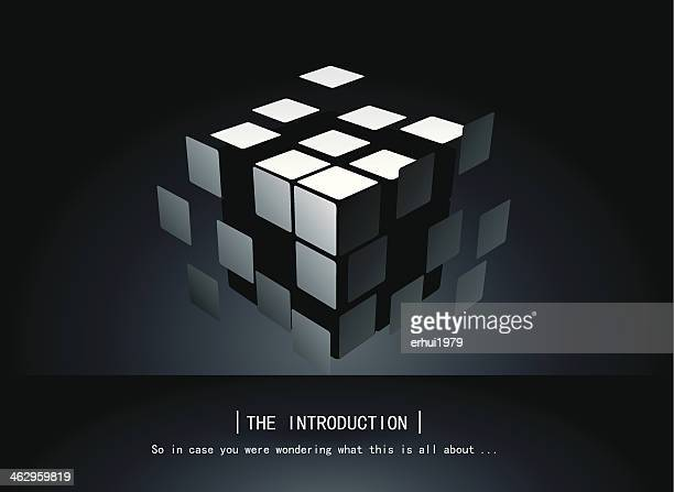 puzzle cube - building block stock illustrations
