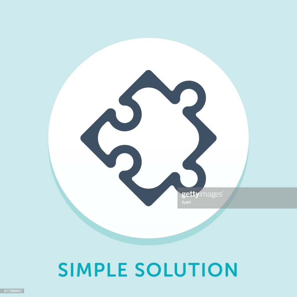 Puzzle Curve Icon : stock illustration