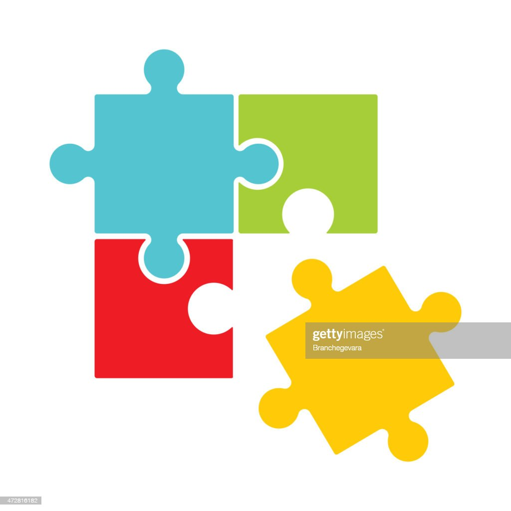 Puzzle design with one piece out of place