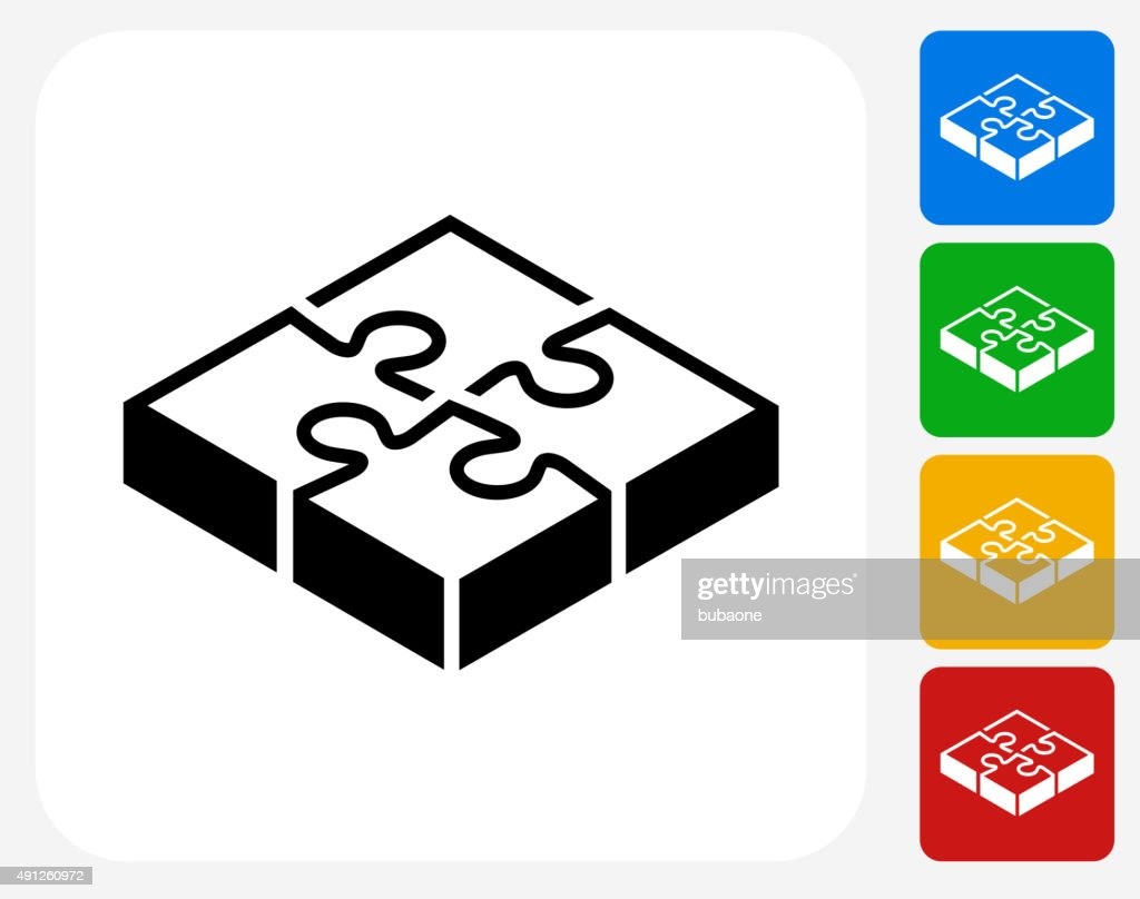 Puzzle Icon Flat Graphic Design